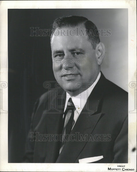 1960 Press Photo Midwest United States Steel Corporation VP Edward Logelin - Historic Images