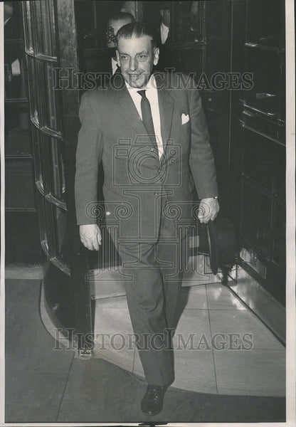 1963 Press Photo Sean Lamas, Prime Minister of Ireland Visits Chicago - Historic Images