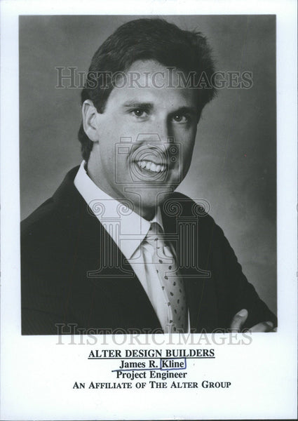 1993 Press Photo Alter Design Builder Project Engineer James Kline - Historic Images