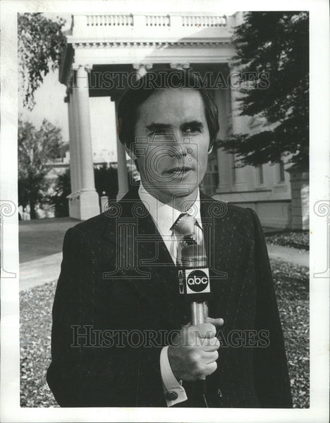 1975 Press Photo Tom Jarriel News reporter ABC News White House Correspondent - Historic Images