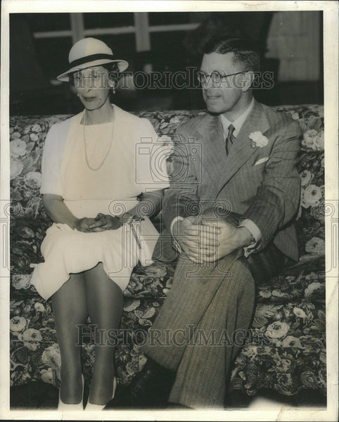1938 Press Photo Princess Louise Sweden Crown Prince Gustaf Adolf - Historic Images