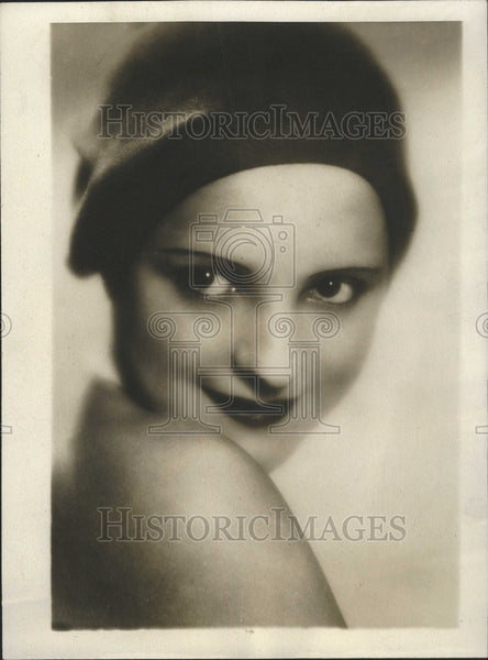 1929 Press Photo  Miss Lottie Loder Talkie Lord Hollywood California Daryl - Historic Images
