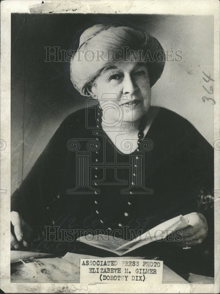 1930 Press Photo Newspaper Woman Elizabeth M Gilmer Dorothy Dix - Historic Images