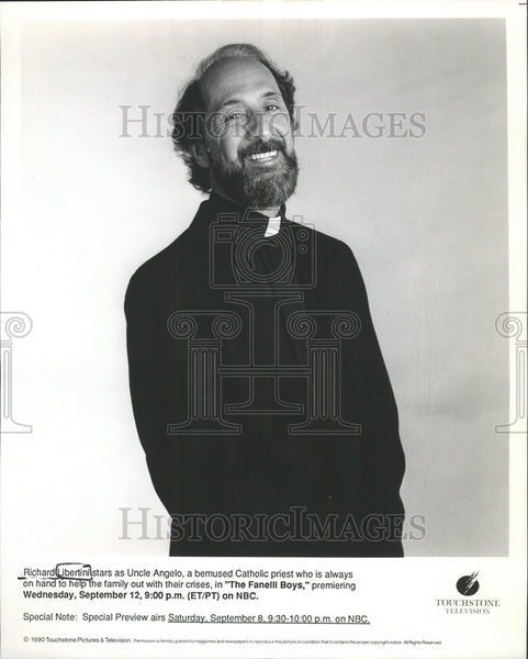 1990 Press Photo Actor Richard Libertini In The Fanelli Boys - Historic Images