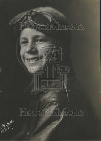 1919 Press Photo Seymour Cox, son of woman aviator - Historic Images
