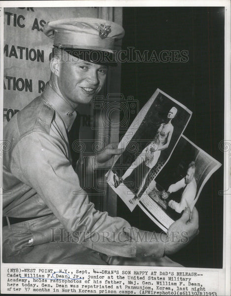 1959 Press Photo Cadet William F. Dean Jr. Junior at the United States Military - Historic Images