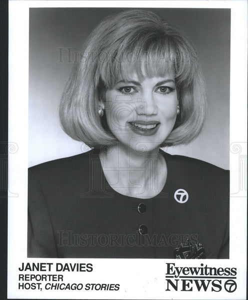 "1994 Press Photo Janet Davies, Reporter.  Host, ""Chicago Stories"" - Historic Images"