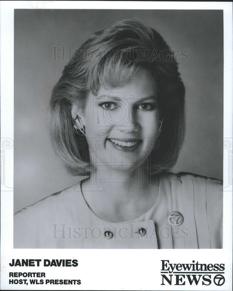 1992 Press Photo Host and Reporter Janet Davies - Historic Images