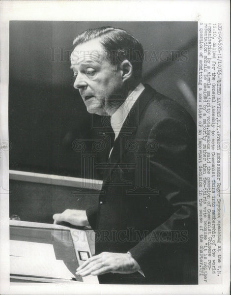 1965 Press Photo Communist China French Ambassador Roger Seydoux World vote - Historic Images