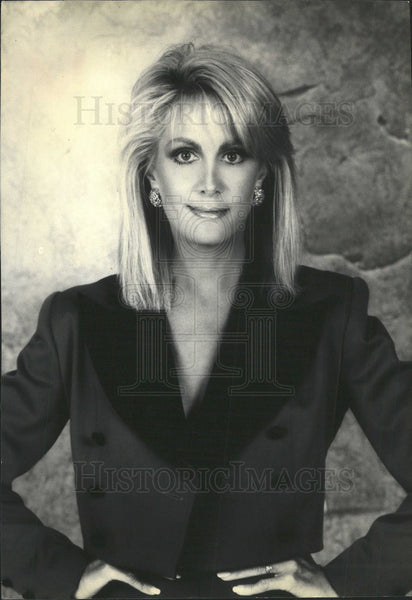 1990 Press Photo Joan Van Ark Actress - Historic Images