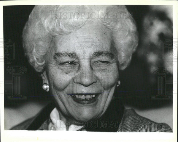 Press Photo Eddie Vrdolyak's Mother Matilda/Chicago Illinois - Historic Images