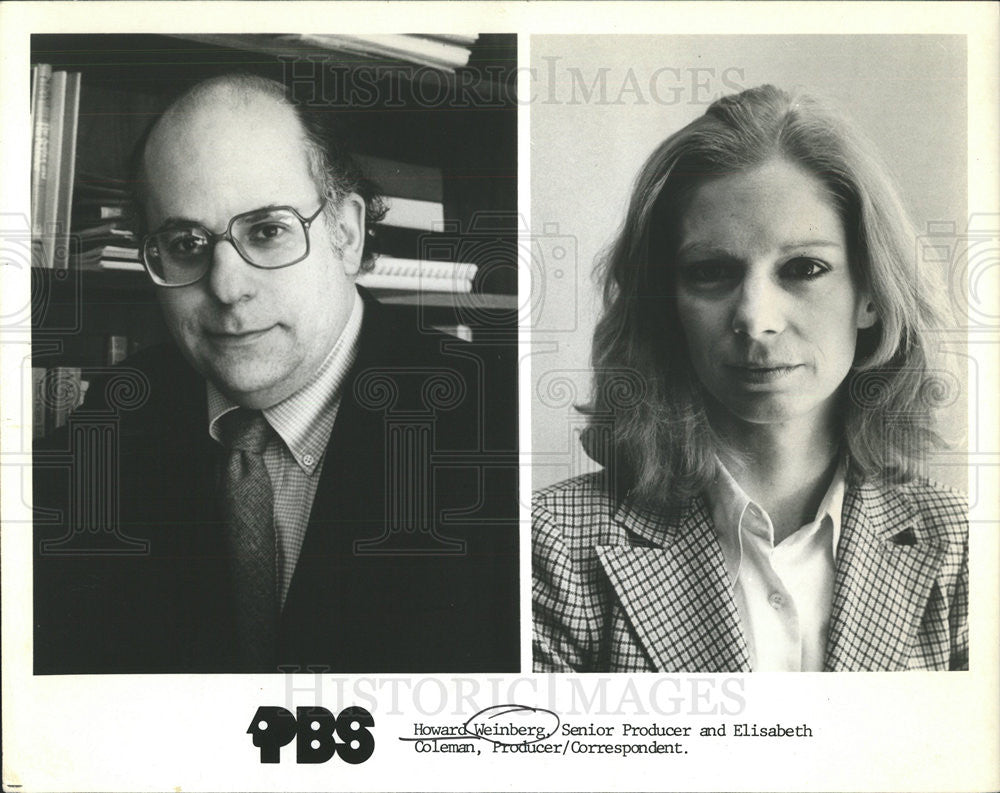 1981 Press Photo Harold Weinberg Elisabeth Coleman PBS - Historic Images