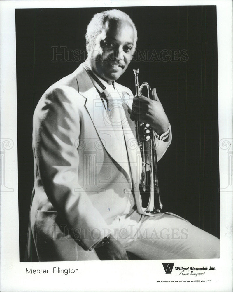 1984 Press Photo Mercer Ellington Trumpet Duke Ellington Band - Historic Images