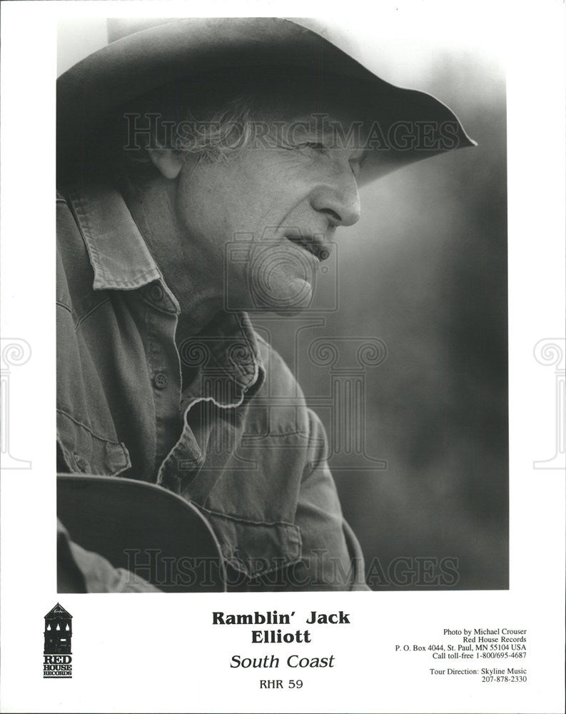 1996 Press Photo Ramblin' Jack Elliot singer-songwriter pays tribute to Guthrie - Historic Images