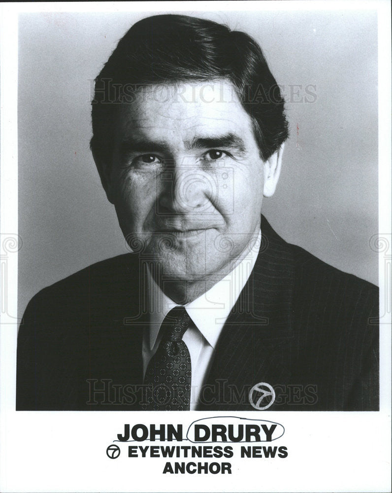 1993 Press Photo John Drury, Eyewitness News Anchor & Activist For Gehrig's - Historic Images