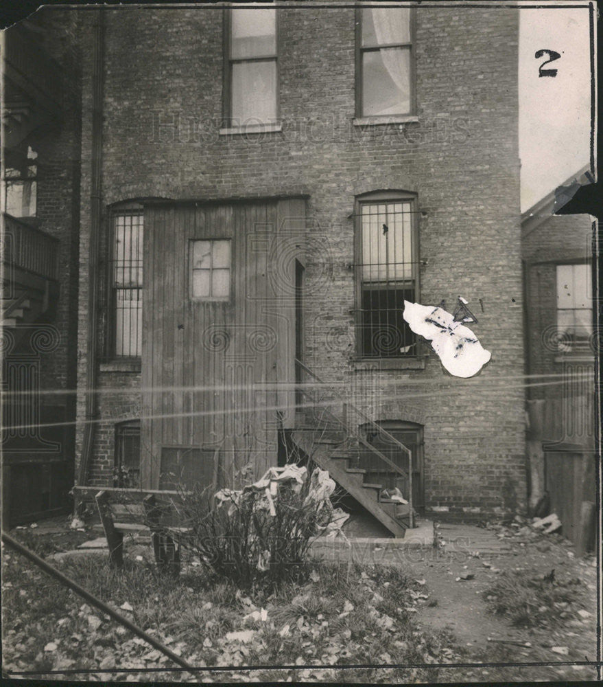 1912 Press Photo Rear of the house where Sophia Singer was murdered. - Historic Images