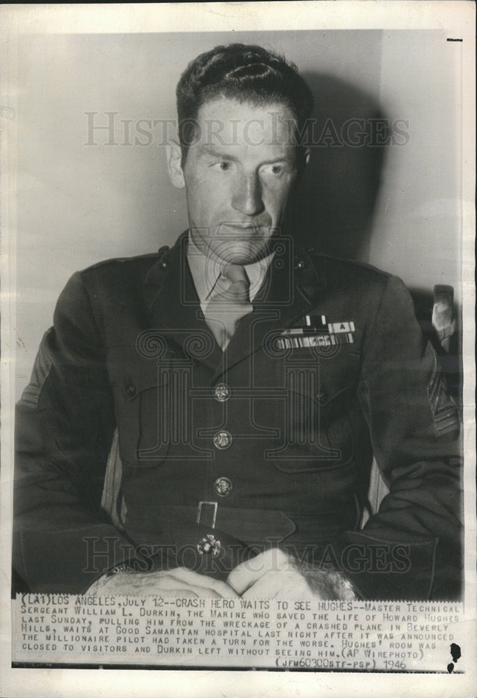 1946 Press Photo Master Technical Sergeant William L Durkin - Historic Images