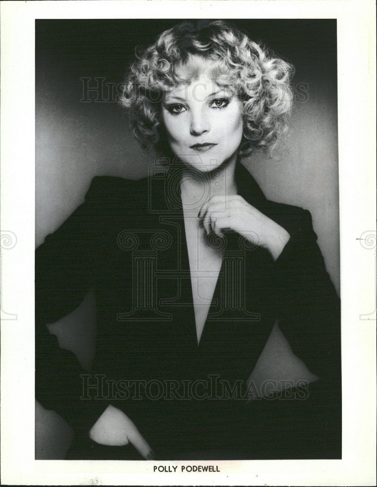 1983 Press Photo Polly Podewell swing jazz vocalist - Historic Images