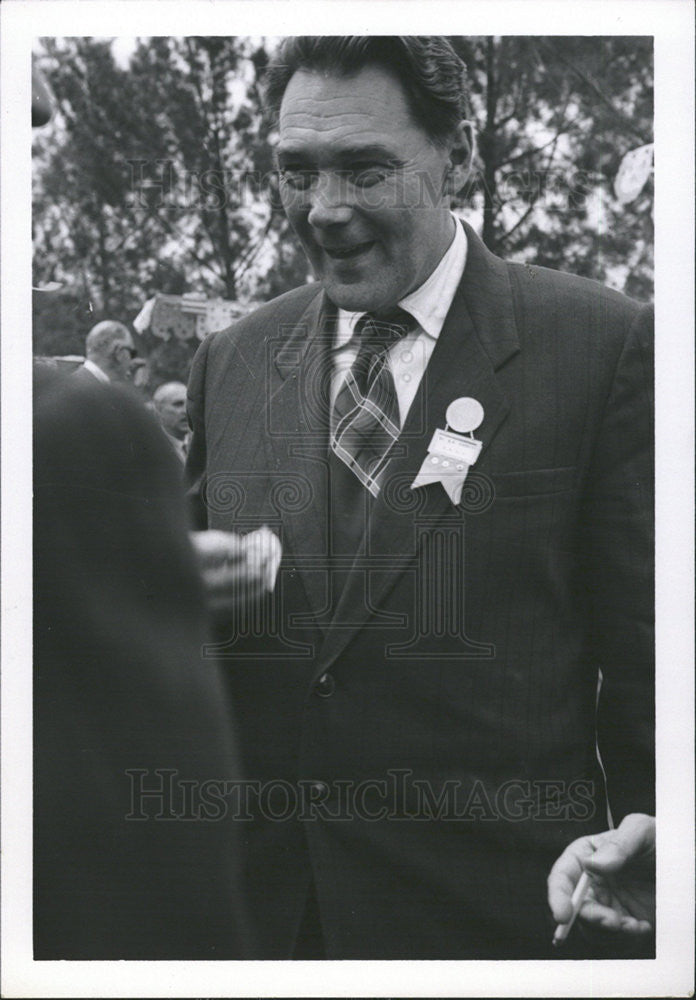1956 Press Photo Dr. Michael Pobedinsky, head of the Soviet delegation Radiology - Historic Images