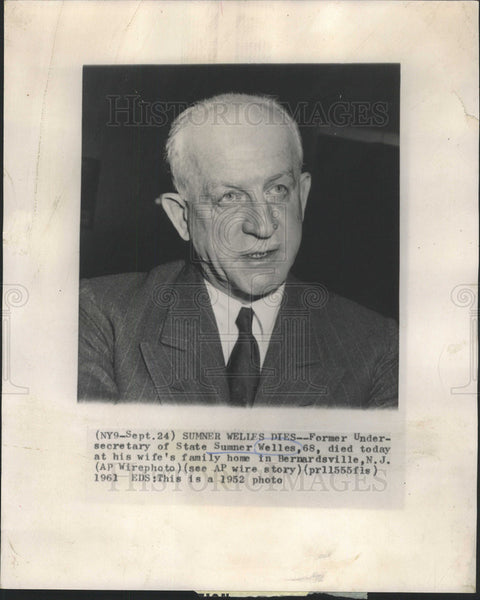 1961 Press Photo SUMNER WELLES AMERICAN GOVERNMENT OFFICIAL - Historic Images