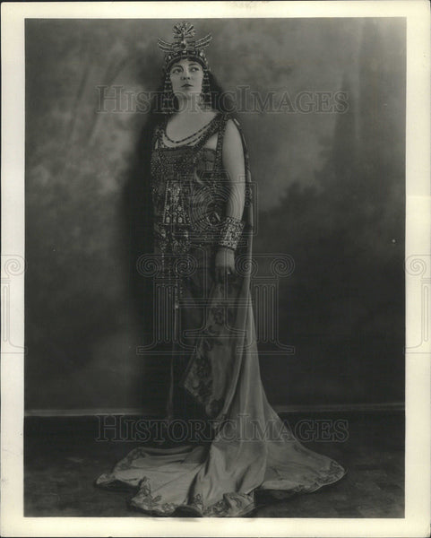 "1925 Press Photo Ada Paggi in ""Aida"" - Historic Images"