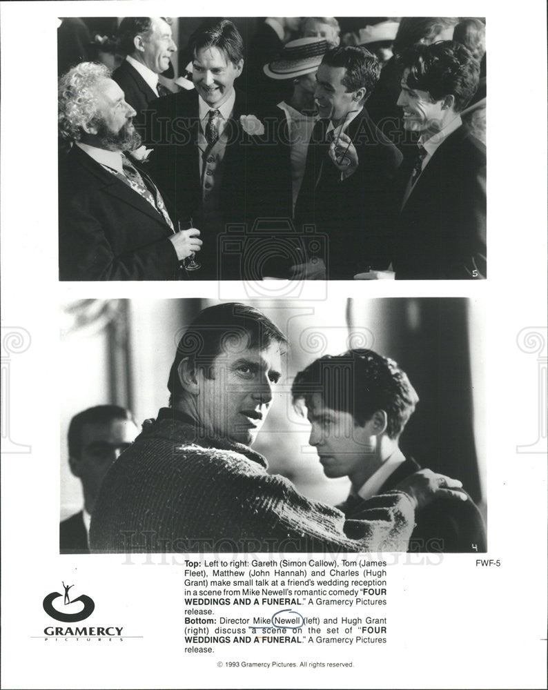 1993 Press Photo Four Weddings And A Funeral Director Mike Newell
