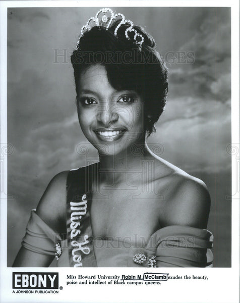 Press Photo Robin McClamb Miss Howard University Beauty Queen - Historic Images
