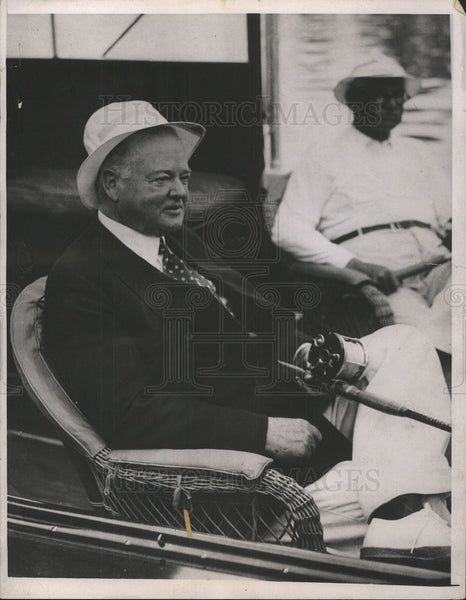 1936 Press Photo HERBERT HOOVER PRESIDENT UNITED STATES ARDENT ANGLER - Historic Images