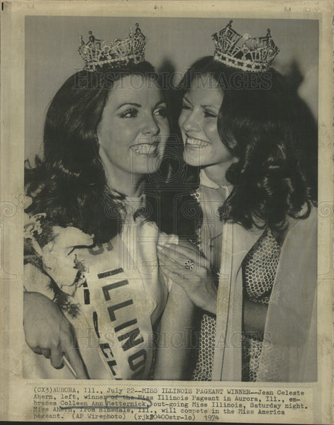1974 Press Photo Colleen Ann Matternick American Fashion Model Miss Illinois - Historic Images