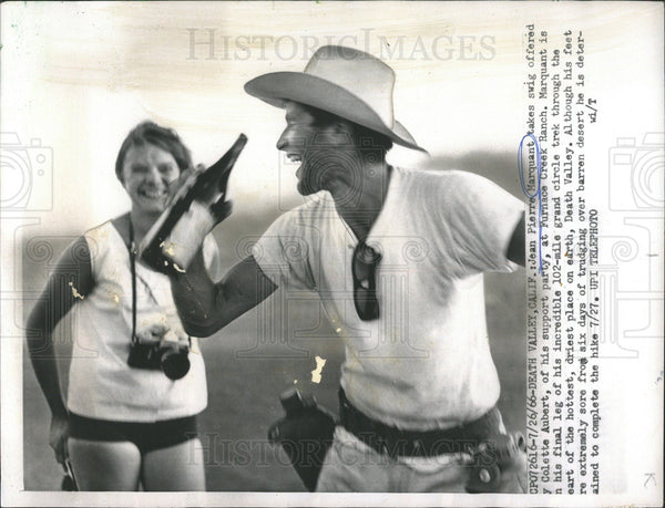 1966 Press Photo Jean Pierre Marquant 102 Mile Trek Death Valley - Historic Images