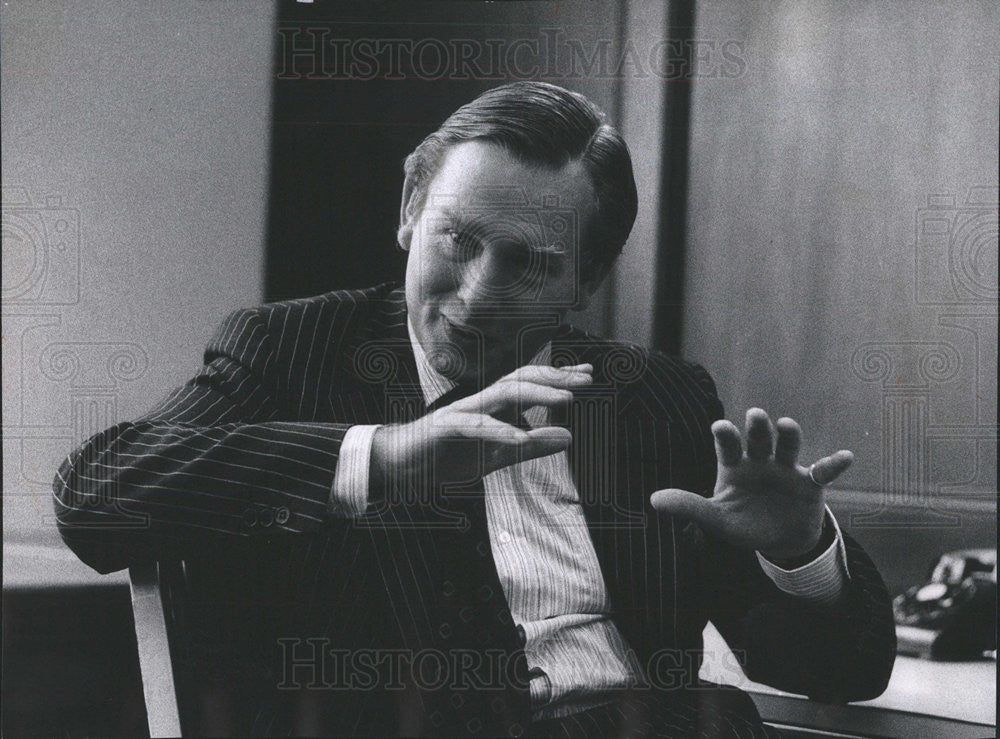 1973 Press Photo Barry Austin Reed British Business Executive Historic Images