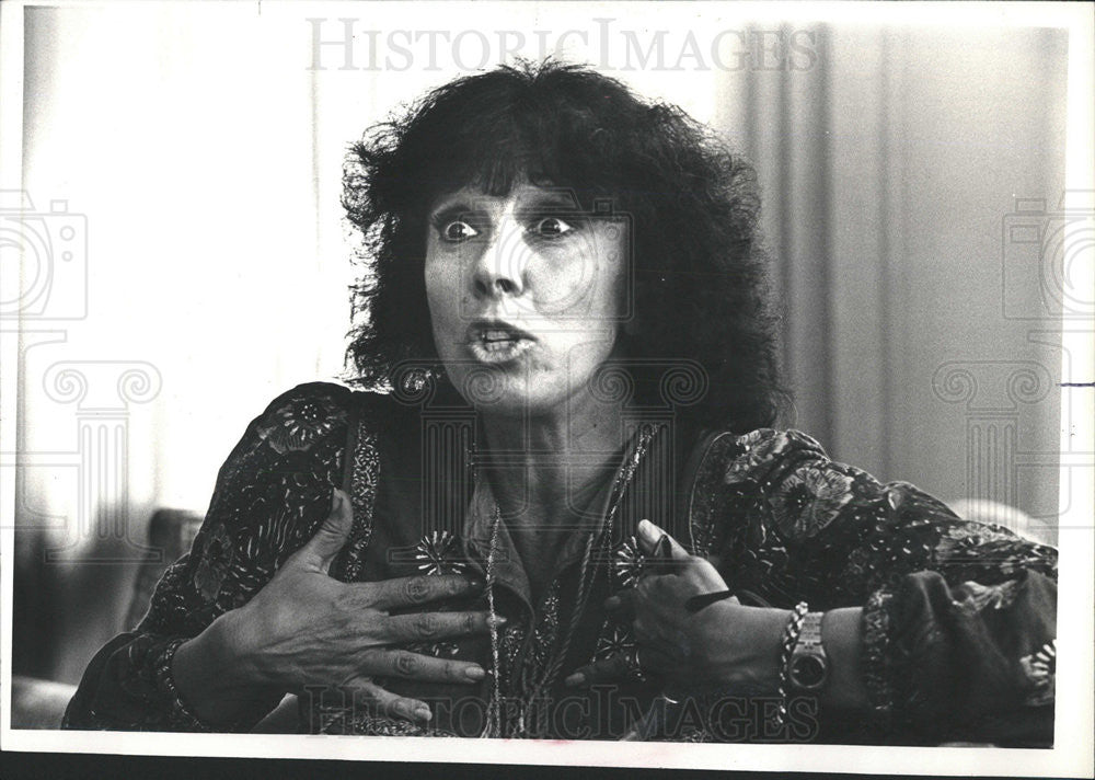 1980 Press Photo Phylis Newman Singer Writer Actress Interview Ritz-Carlton - Historic Images