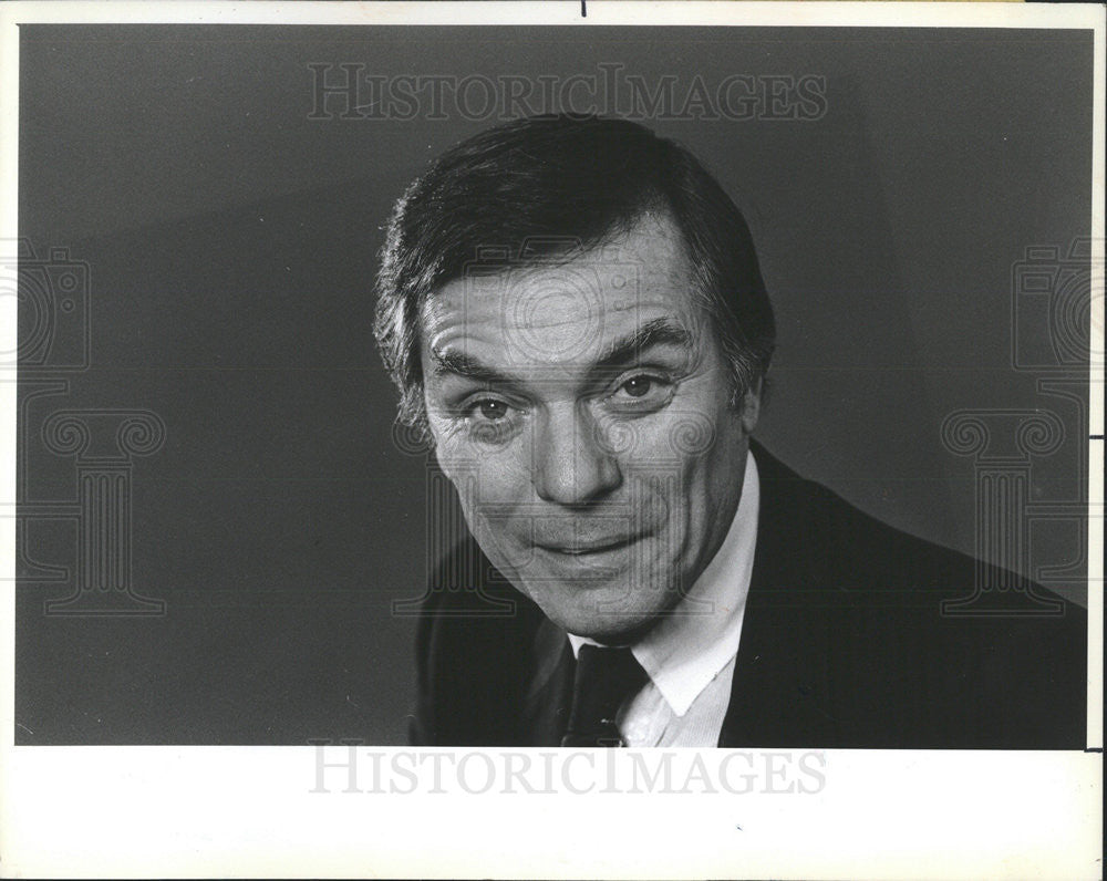 1982 Press Photo Game Show Host Peter Marshall - Historic Images