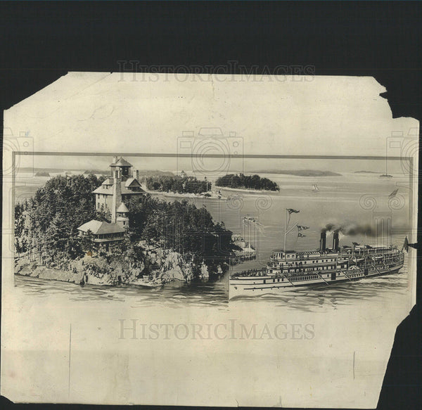 1927 Press Photo Ship in the St. Lawrence River - Historic Images