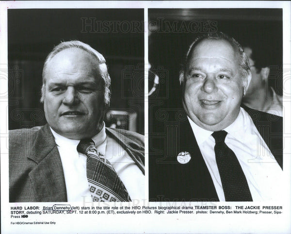 "Press Photo Brian Dennehy ""Teamster Boss: The Jackie Presser Story"" - Historic Images"