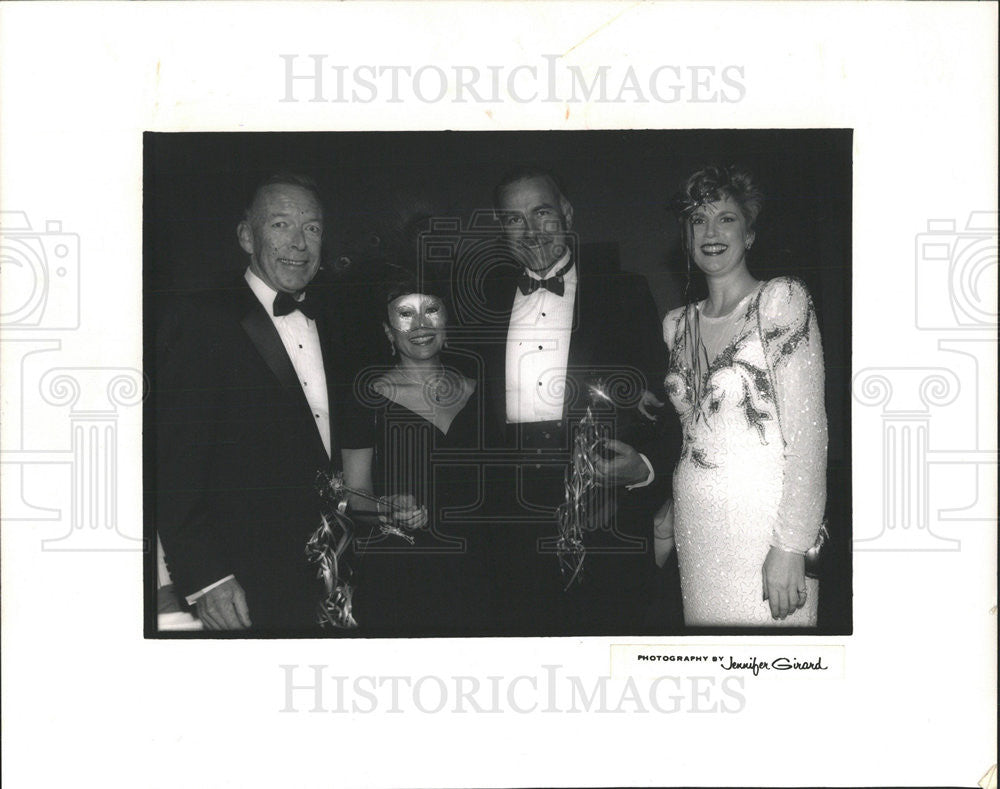 1992 Press Photo William Julie Wrigley Chicago Society - Historic Images