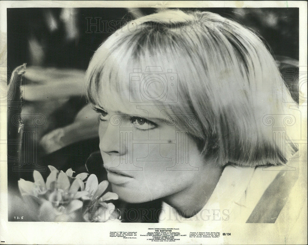 "1969 Press Photo Patricia Wymer American actress ""The Babysitter"" Thriller drama - Historic Images"