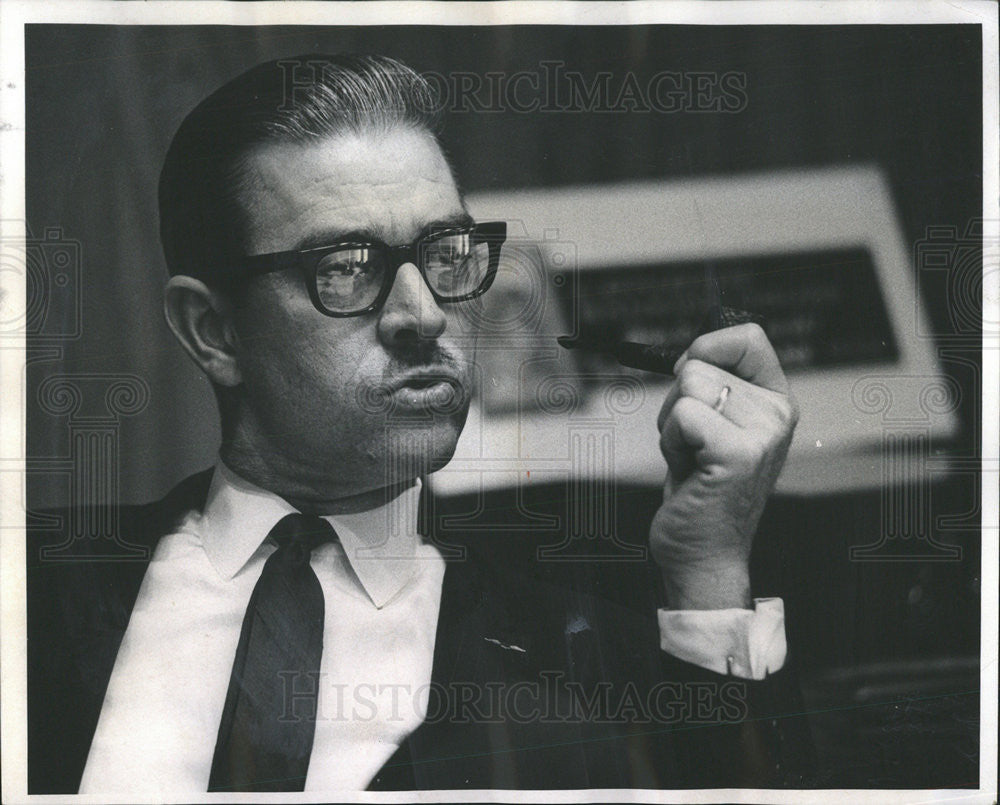 1968 Press Photo Wesley Larson Tri-State Bank Board Chairman - Historic Images