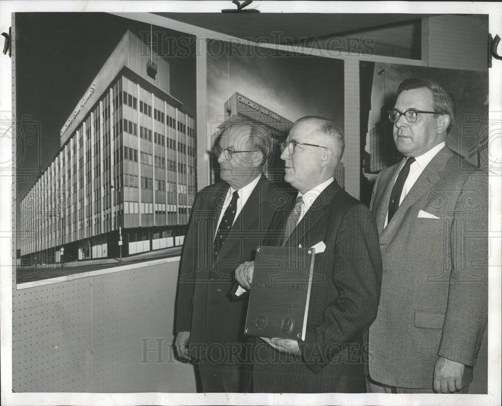 1958 Press Photo Lee Denniston Sun Time Architectural Award Luncheon Nichols - Historic Images