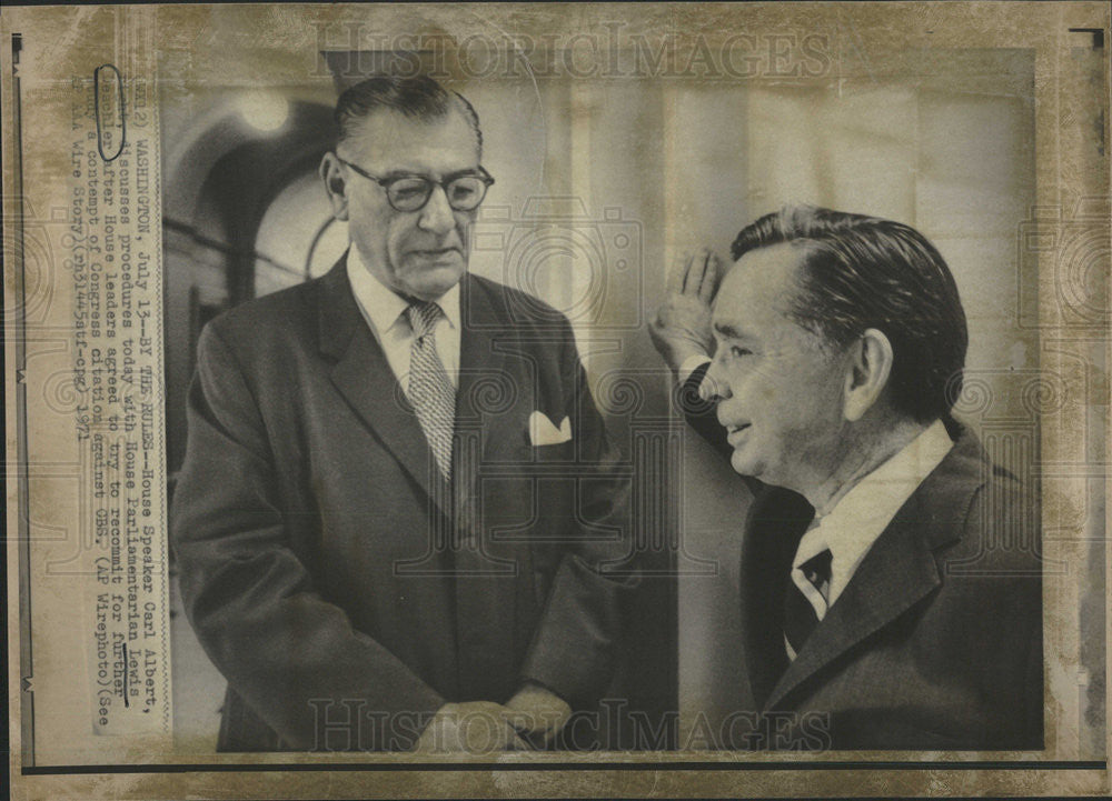 1971 Press Photo Lewis Deschler United States Parliamentarian - Historic Images