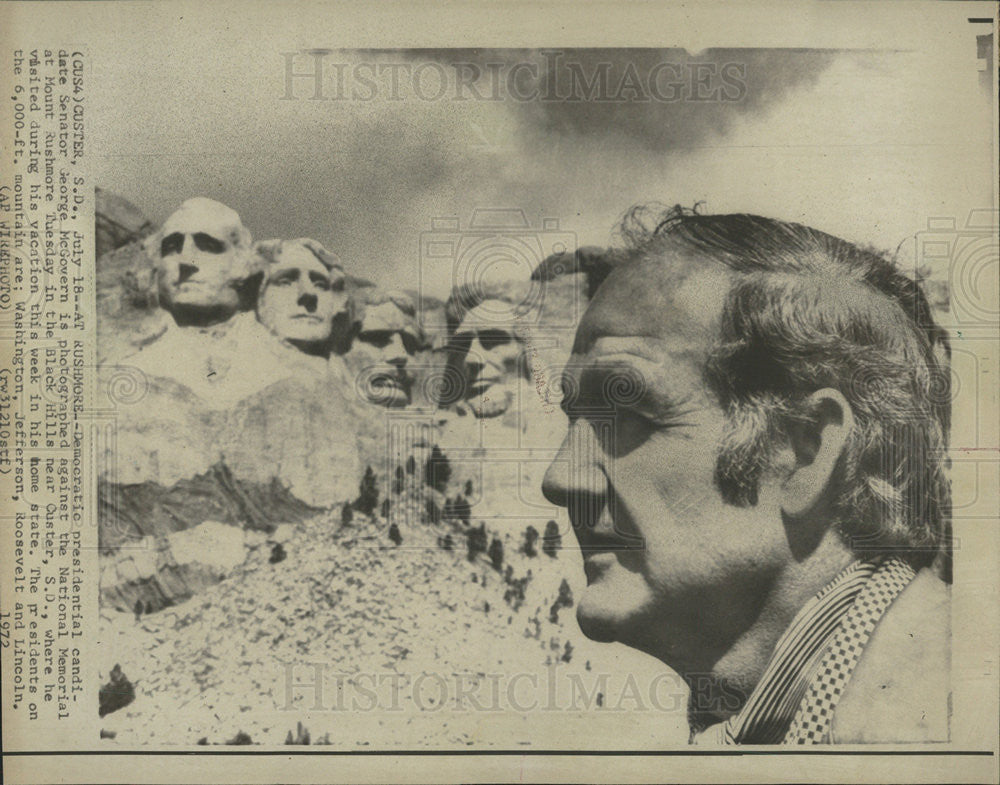 1972 Press Photo United States Politician South Dakota Senator George McGovern - Historic Images