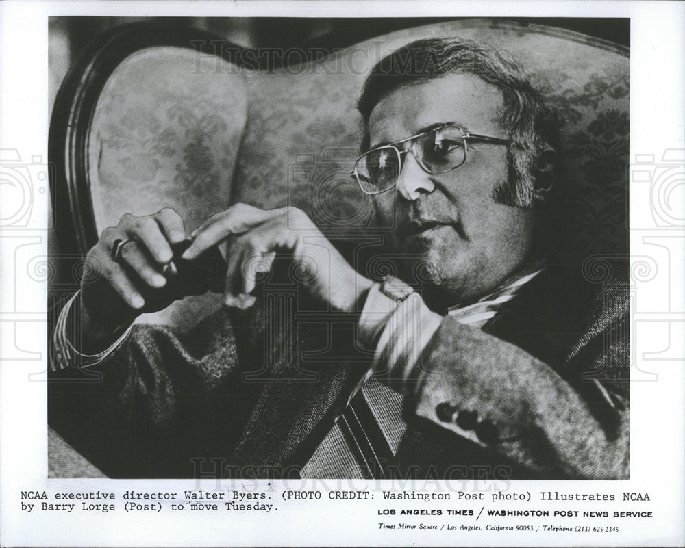1983 Press Photo Executive Director Walter Byers - Historic Images