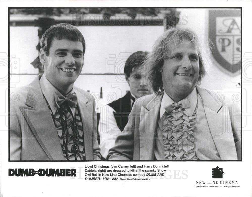 1996 Press Photo Dumb and Dumber Lloyd Christmas - Historic Images
