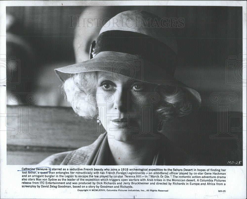 1977 Press Photo Catherine Deneuve Actress - Historic Images
