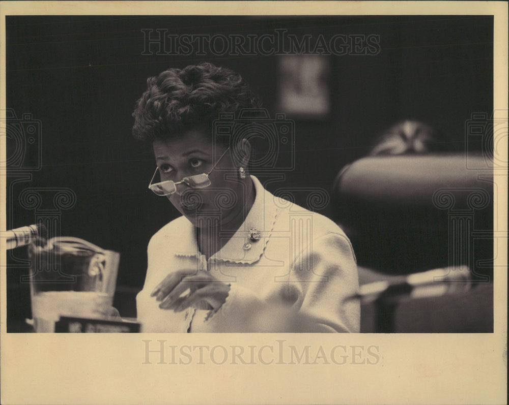 1994 Press Photo Carol Moseley Braun American Politician Lawyer US Senator Mich - Historic Images
