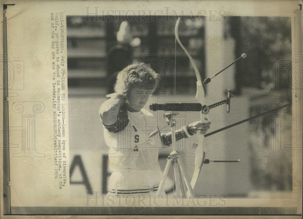 1976 Press Photo Luann Ryon American Olympic Archer Sports - Historic Images