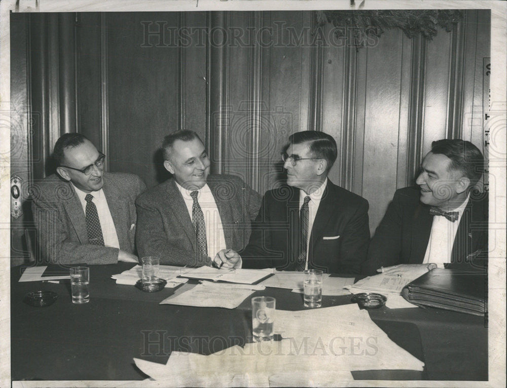 1957 Press Photo Stanley Kinyon,George Young,Leroy Martin,John Mef, professors - Historic Images