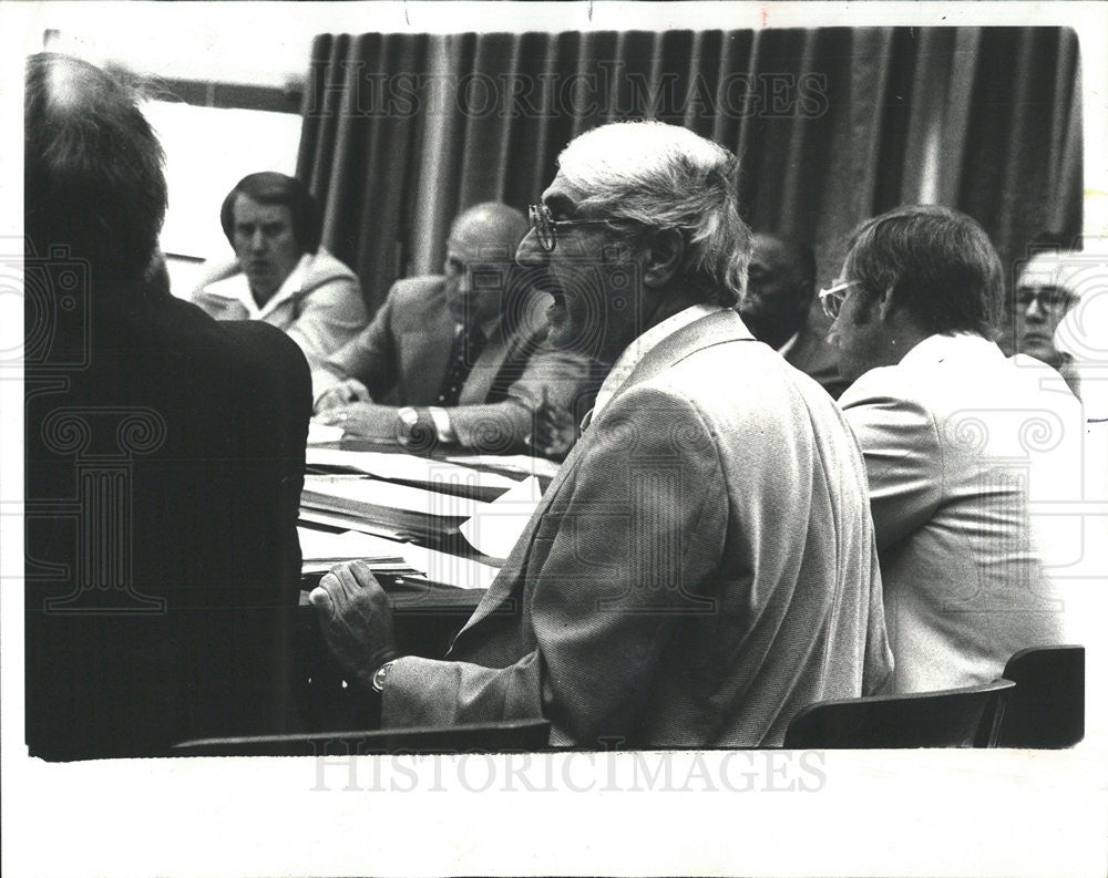 1977 Press Photo Donn Moss chair of Wingate nursing home investigation - Historic Images