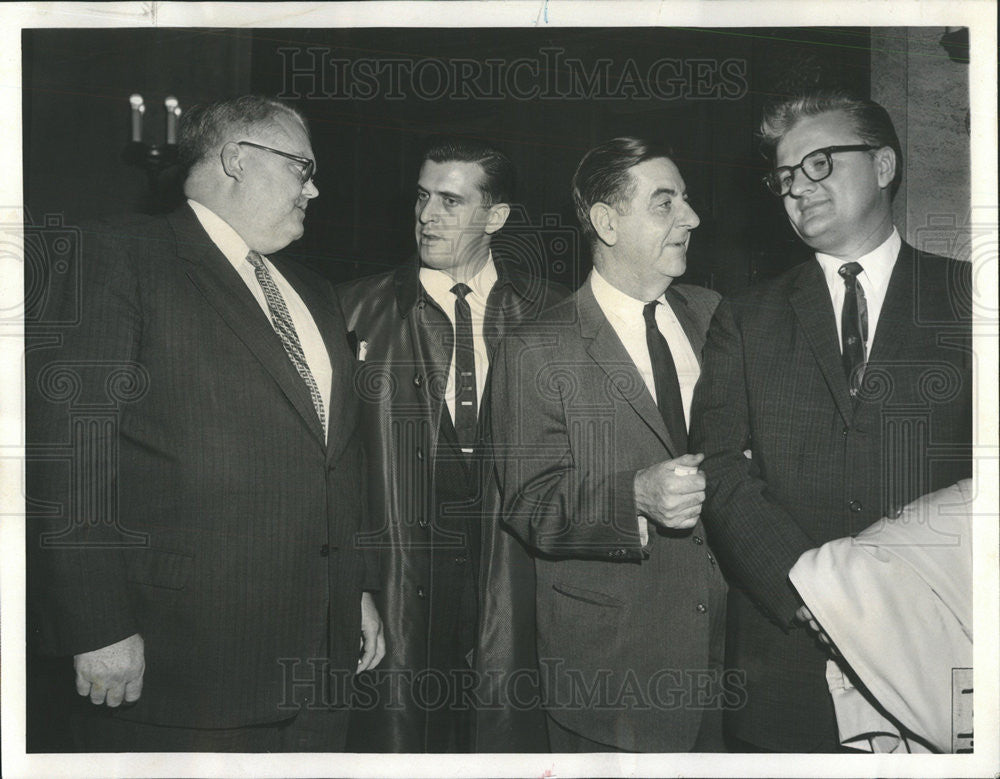 1960 Press Photo John McIntyre,cop Glenn Cherry,Dick Devine,cop John Peterson - Historic Images