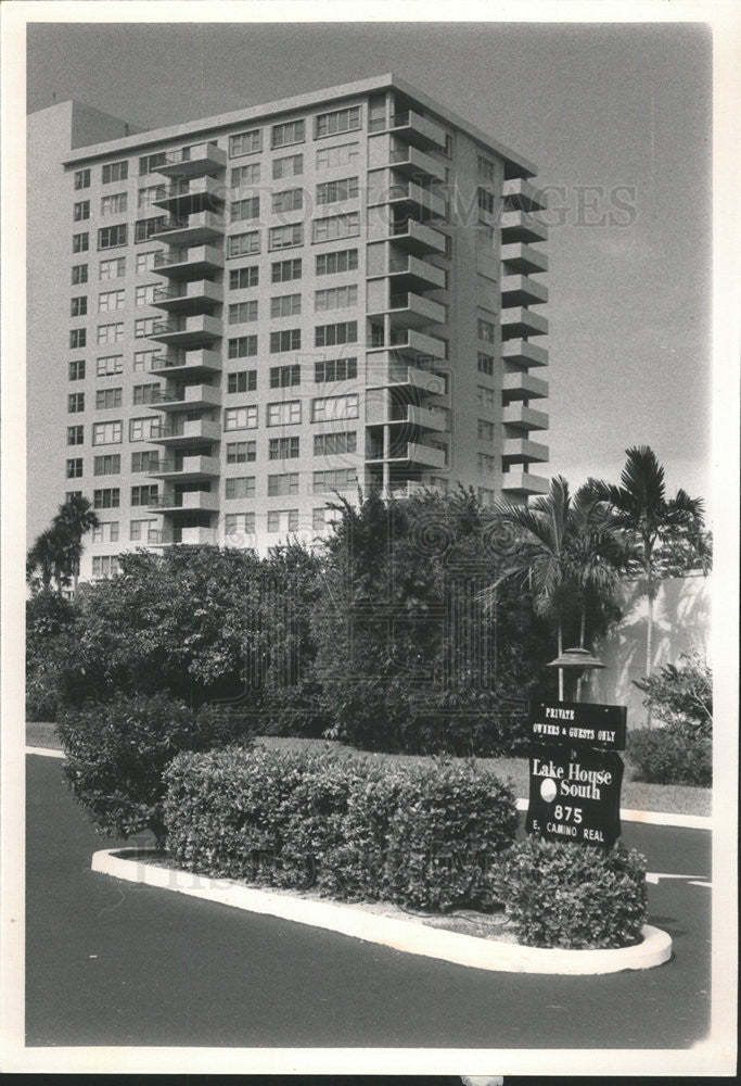 1981 Press Photo Actress Wilson Boca Raton Residence Exterior - Historic Images